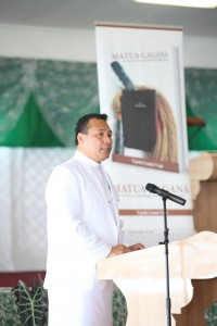 Dr Vaai at his book launch in Samoa.